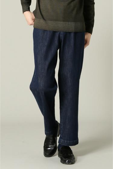���㡼�ʥ륹��������� RICCARDO METHA / �ꥫ��ɥ�å�:mens 1tuck wide trouser denim �ͥ��ӡ�