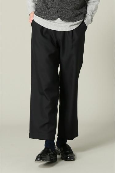 ���㡼�ʥ륹��������� RICCARDO METHA / �ꥫ��ɥ�å�:mens 1tuck wide trouser wool �֥�å�