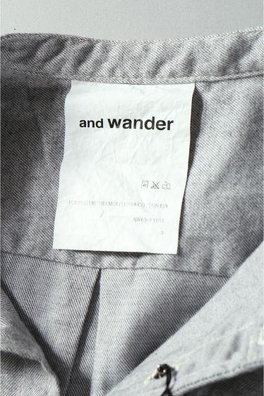 ���㡼�ʥ륹��������� ���塼�� and wander / ����ɥ�����: THERMO NELL STAND COLLOR SHIRT / ����� �ܺٲ���15