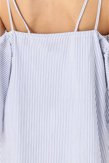 ���ѥ�ȥ�� �ɥ����������� ���饹 Stripe off shoulder Blouse�� �ܺٲ���3