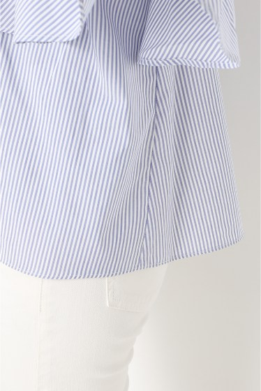 ���ѥ�ȥ�� �ɥ����������� ���饹 Stripe off shoulder Blouse�� �ܺٲ���7