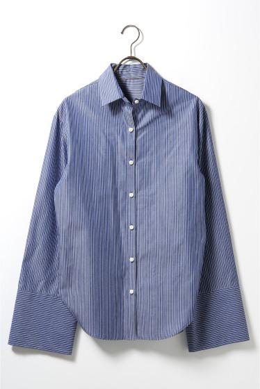 ���ѥ�ȥ�� �ɥ����������� ���饹 Stripe Wide Sleeve Shirt�� �ܺٲ���11