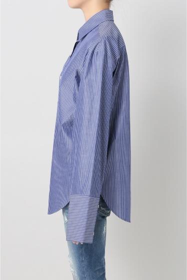 ���ѥ�ȥ�� �ɥ����������� ���饹 Stripe Wide Sleeve Shirt�� �ܺٲ���2
