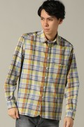 ���㡼�ʥ륹��������� IKE BEHAR / �������١��ϡ�:NO.MF1302LR L/S ROUND COLLAR CHECK