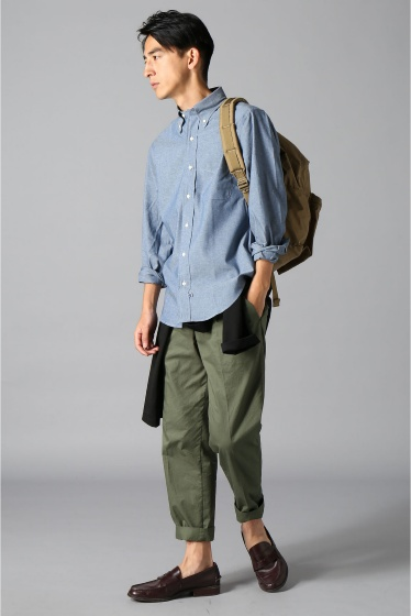 ���㡼�ʥ륹��������� IKE BEHAR / �������١��ϡ�:LONG SLEEVE BUTTON DOWN chambray �ܺٲ���1