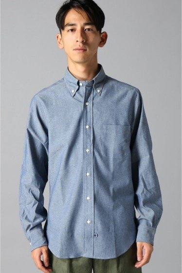 ���㡼�ʥ륹��������� IKE BEHAR / �������١��ϡ�:LONG SLEEVE BUTTON DOWN chambray �ܺٲ���2
