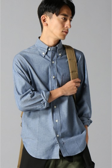 ���㡼�ʥ륹��������� IKE BEHAR / �������١��ϡ�:LONG SLEEVE BUTTON DOWN chambray �֥롼 A
