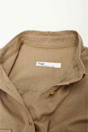 Plage 《予約》製品染めレギュラーカラーシャツ