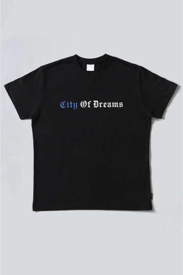 ���ƥ�����å� CITY OF DREAMS D/3 T-SHIRT �֥�å�