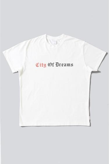 ���ƥ�����å� CITY OF DREAMS D/3 T-SHIRT �ۥ磻��