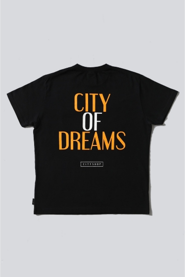 ���ƥ�����å� CITY OF DREAMS D/4 POCKET T-SHIRT �֥�å�