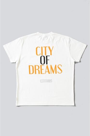 ���ƥ�����å� CITY OF DREAMS D/4 POCKET T-SHIRT �ۥ磻��