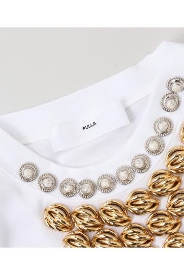 ���ƥ�����å� TOGA PULLA Silkette jersey T-shirts �ܺٲ���9