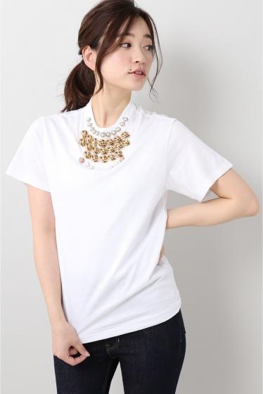 ���ƥ�����å� TOGA PULLA Silkette jersey T-shirts �ۥ磻��