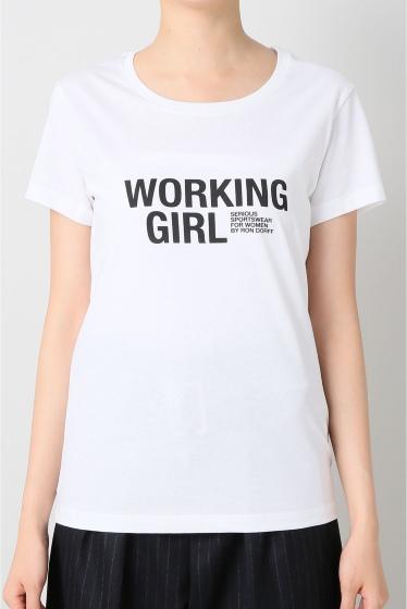 �����ԡ����ȥ��ǥ��� ��RON FORFF WORKING GIRL Tee ����� �ۥ磻��