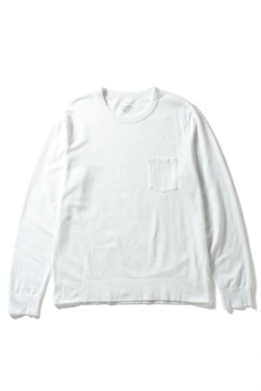 �����֥�������ʥ��ƥå� Supima Fleece Pocket Sweatshirt �ۥ磻��