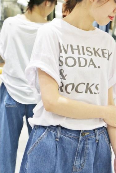 �ץ顼���� +8 PARIS ROCK whiskey tee�� �ۥ磻��