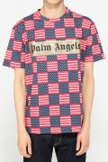 �������� PALM ANGELS ALLOVER FLAG TEE