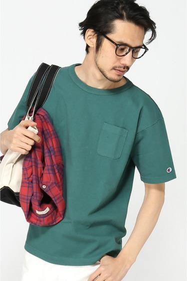 ���㡼�ʥ륹��������� 16SS Champion T1011 JS Exclusive Pocket T-SHIRTS/ �����ԥ��� �ݥ�Tee ����� C
