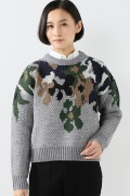 ���㡼�ʥ륹��������� ��CLANE/����͡� OVER FLOWER MOTIF KNIT
