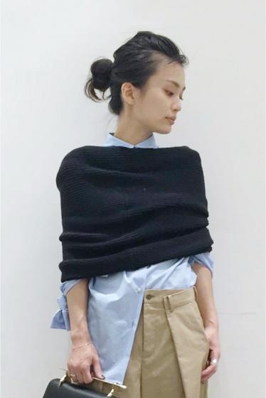 �����ԡ����ȥ��ǥ��� bassike knit snood�� �֥�å�