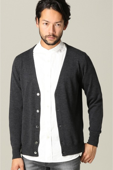 ���㡼�ʥ륹��������� SUPER140sWASHABLE MERINO CARDIGAN KNIT ���졼B