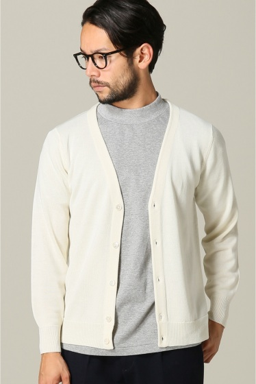 ���㡼�ʥ륹��������� SUPER140sWASHABLE MERINO CARDIGAN KNIT �ۥ磻��