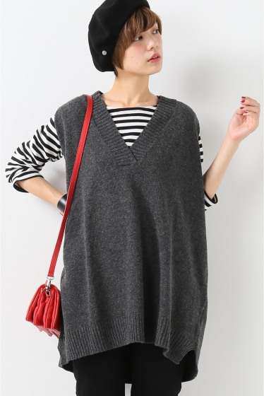 ���?�� ������ BONSUI V-NECK KNIT VEST ���졼A