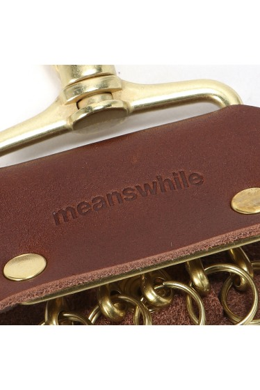 ���ƥ�����å� meanswhile Leather Key Ring �ܺٲ���4