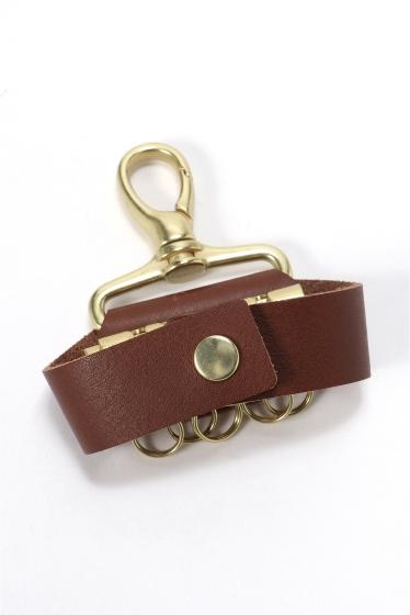 ���ƥ�����å� meanswhile Leather Key Ring �֥饦��