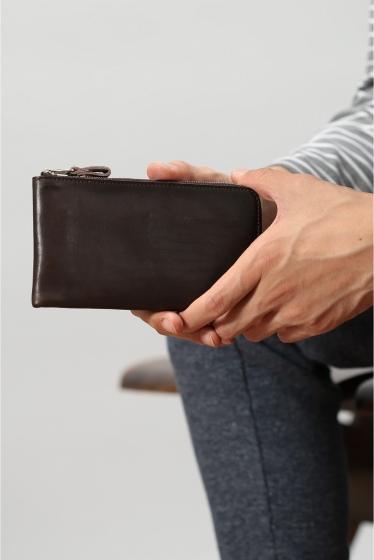 ���㡼�ʥ륹��������� HOBO / �ۡ��ܡ� : Shade Leather L Zip Wallet �֥饦��
