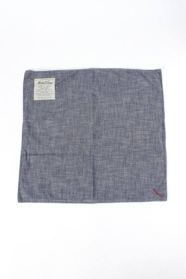 �����֥�������ʥ��ƥå� BASSHU Cushion Cover Chambray �ͥ��ӡ� B