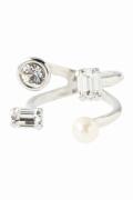 ���ƥ�����å� Bijou R.I Pearl Mix Crystal Ring