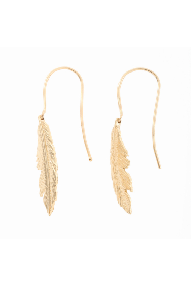 ���ѥ�ȥ�� �ɥ����������� ���饹 ��MANON VON GERGAN Small Feather PieRce �������