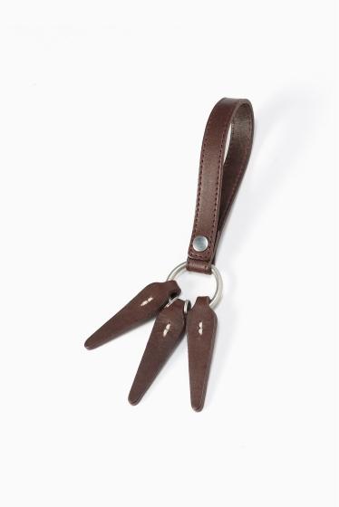 ���㡼�ʥ륹��������� HOBO / �ۡ��ܡ�:Shade Leather Leaves Key Ring �֥饦��