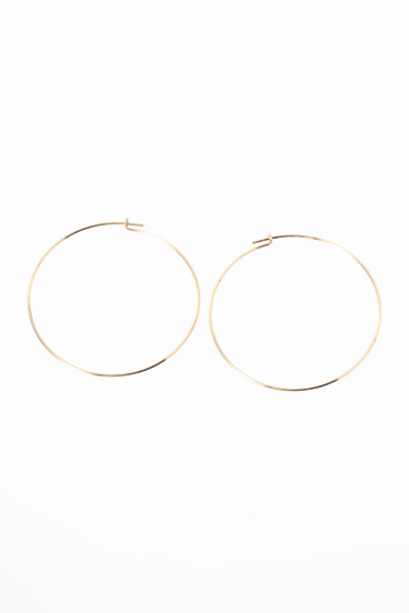 ���?�� ������ BY BOE LARGE THIN WIRE HOOP �ԥ��� �������