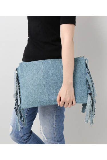 �����ܥ꡼ ������ ��wiffle��  REMAKE DENIM CLUTCH �ܺٲ���12