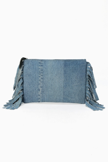 �����ܥ꡼ ������ ��wiffle��  REMAKE DENIM CLUTCH �֥롼 A