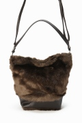 ���?�� ������ TERESA CAMBI FAKE FUR BAG