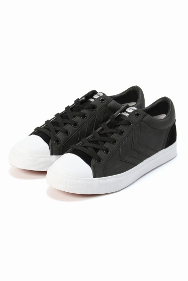���ԥå������ѥ� ��hummel��BASELINE COURT LEATHER �֥�å�