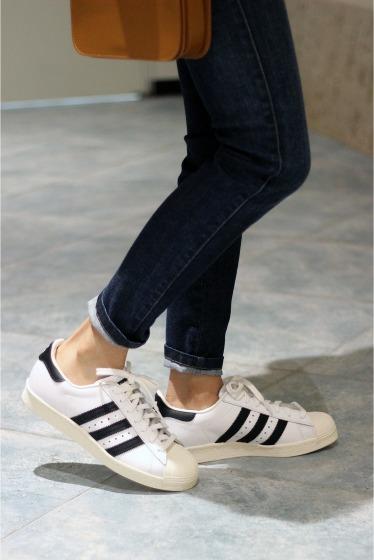 ���ԥå������ѥ� ��adidas�� SUPERSTAR 80S�� �֥�å�