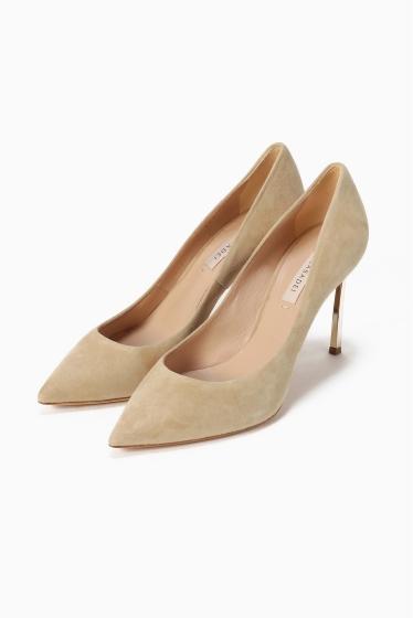 ���ѥ�ȥ�� �ɥ����������� ���饹 ��CASADEI(pre) 9cm Heel gold Heel Pumps �١�����