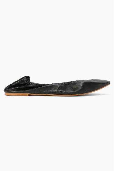 �����ԡ����ȥ��ǥ��� ��MOHI ballet shoes �֥�å�