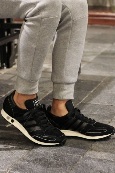���㡼�ʥ륹��������� adidas LA TRAINER JS Exclusive/���ǥ����� �֥�å�