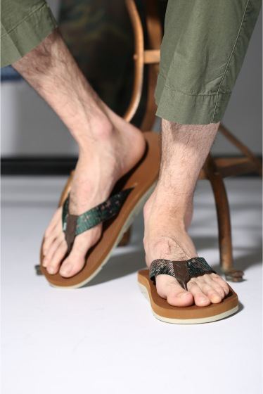 ���㡼�ʥ륹��������� ISLAND SLIPPER NYLON/LEATHER/�������ɥ���å� ���� ���� �١�����