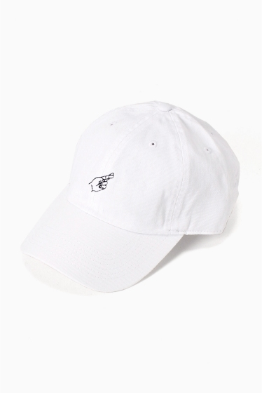�ե�����֥� ���ǥ��ե��� 417 TWILL C/FINGERS CAP �ۥ磻��