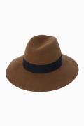 ���ѥ�ȥ�� �ɥ����������� ���饹 ��*MAISON MICHEL WOOL LARGE HAT