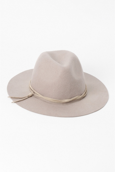 �١��������ȥå� INHERIT FELT HAT (LETHER CODE) ���졼A