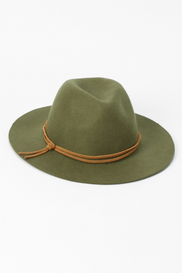 �١��������ȥå� INHERIT FELT HAT (LETHER CODE) ������