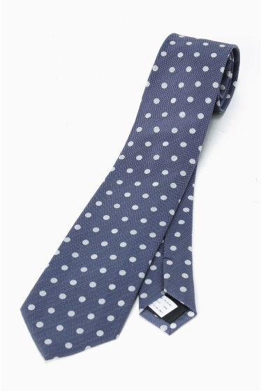 �١��������ȥå� SILK NAVY MIDDLE DOT �֥롼